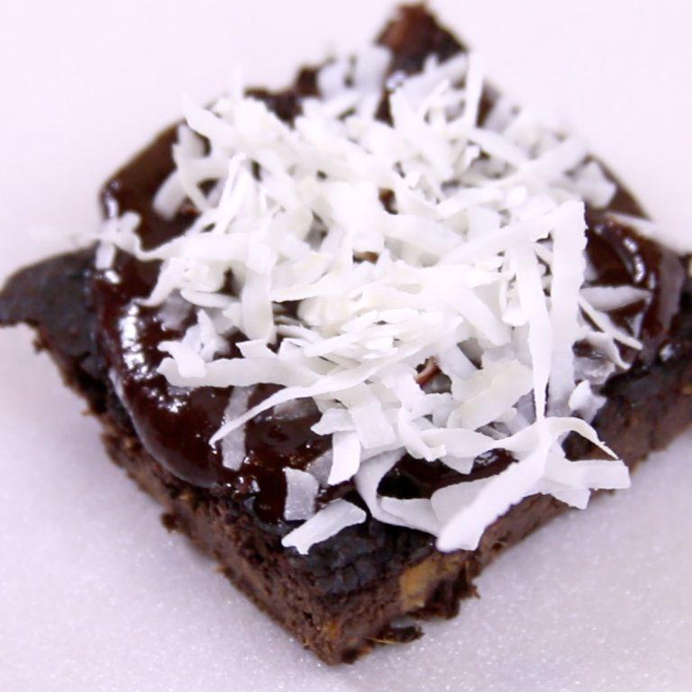 Healthy Coconut Fudge Brownies